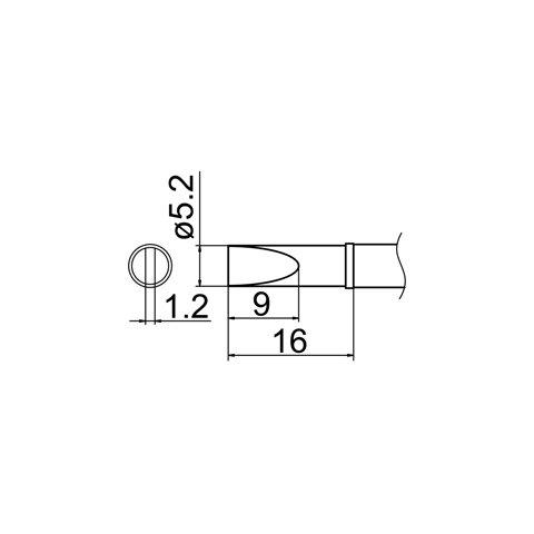 Soldering Tip HAKKO T12-DL52 Preview 4